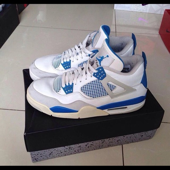 lowest price c5f23 a6bfb Air Jordan Military Blue 4s NWT
